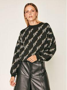 MSGM Sweter 2941MDM144 207763 Czarny Regular Fit
