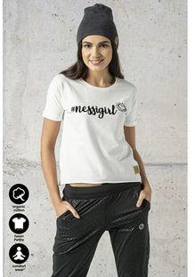 Bluzka damska Nessi Sportswear z okrągłym dekoltem z krótkim rękawem bawełniana