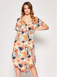 Roxy Sukienka letnia Flamingo Shades ERJWD03428 Kolorowy Regular Fit