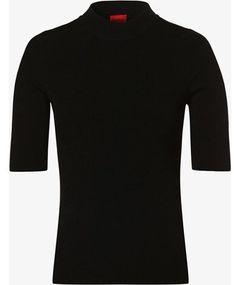 Bluzka damska Hugo Boss czarna z golfem z krótkimi rękawami
