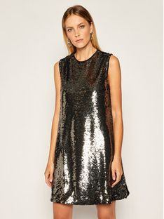 TwinSet Sukienka koktajlowa 202ST2140 Czarny Regular Fit