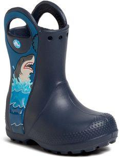 Kalosze CROCS - Crocsfl Shark Ptch Rain Boot B 206174  Navy