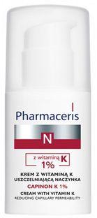 Pharmaceris N Capinon K 1%, krem z witaminą K uszczelniającą naczynka, 30 ml