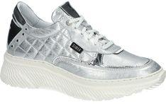 Buty sportowe damskie Simen sneakersy młodzieżowe wiązane skórzane