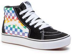 Sneakersy VANS - Comfycush Sk8-Hi VN0A4UVXU091 (Checkerboard) Rainbow/Tr