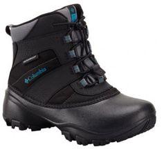 Buty zimowe dziecięce czarne Columbia śniegowce sznurowane