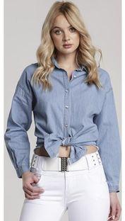 Koszula damska Renee z kołnierzykiem bez wzorów