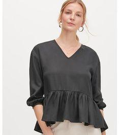 Bluzka damska Reserved z długim rękawem gładka