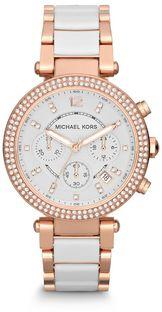 Zegarek MICHAEL KORS - Parker MK5774 Rose Gold/White/Rose Gold