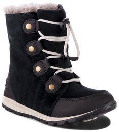 Śniegowce SOREL - Youth Whitney Suede NY2329 Black/Dark Stone 010