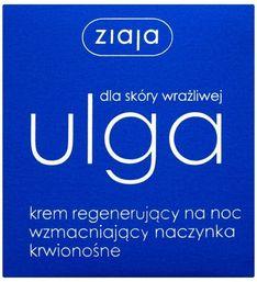 Ziaja Ulga dla skóry wrażliwej, krem regenerujący na noc wzmacniający naczynka krwionośne, 50 ml