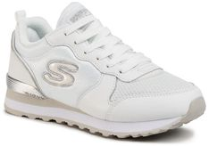 Sneakersy SKECHERS - Goldn Gurl 111/WSL White/Silver