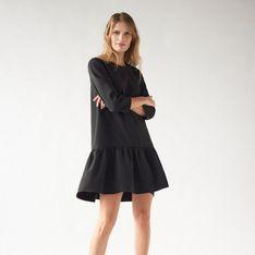 Mohito - Trapezowa sukienka z falbaną -