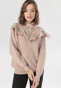 Beżowy Sweter Avavianna