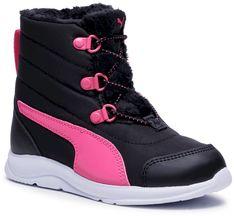 Śniegowce PUMA - Fun Racer Boot Ac Ps 194281 02 Puma Black/Glowing Pink