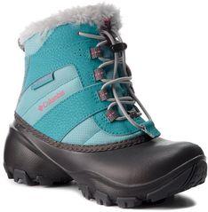 Śniegowce COLUMBIA - Childrens Rope Tow III Waterproof BC1323 Iceberg/Camellia Rose 341