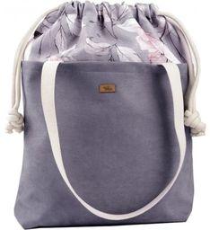 Torebka Me&Bags bez dodatków duża zamszowa na ramię z nadrukiem