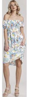 Sukienka wielokolorowa Renee z krótkimi rękawami