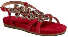 Sandały ALMA EN PENA - V20845 Suede Red