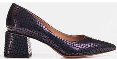 Czółenka Marco Shoes na średnim obcasie zamszowe w zwierzęce wzory na bez zapięcia