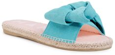 Espadryle MANEBI - Sandals With Bow M 3.6 J0 Aquamarine