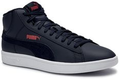 Sneakersy PUMA - Smash v2 Mid L 366924 03 Peacoat/High Risk Red/White