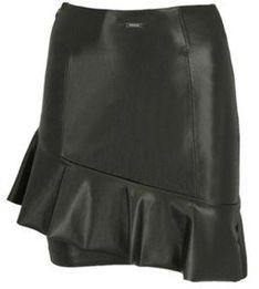 Czarna spódnica Guess skórzana mini