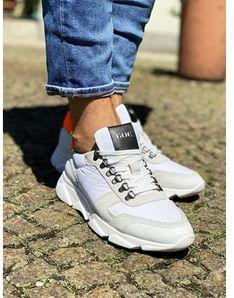 Buty sportowe męskie białe Goe skórzane