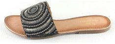 Klapki damskie Manoukian Shoes bez zapięcia letnie płaskie