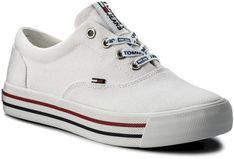 Tenisówki TOMMY JEANS - Sneaker EN0EN00166 White 100