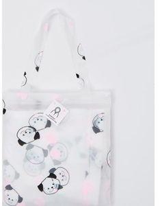 Shopper bag Sinsay duża młodzieżowa z nadrukiem