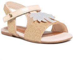 Sandały BIBI - Mini Me 1102025 Champagne/Glitter/White Gold