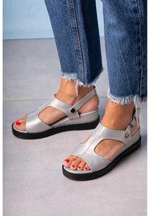 Sandały damskie Casu z klamrą