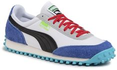 Sneakersy PUMA - Fast Rider Ride On 372837 01  Puma White/Dazzling Blue