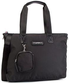 Torebka TOMMY HILFIGER - Varsity Nylon Tote AW0AW06114 002