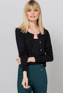 Sweter-bolerko z długimi rękawami