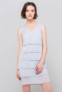 Koktajlowa, połyskująca sukienka