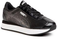 Sneakersy PUMA - Turino Stacked Glitter 371944 04  Puma Black/Puma Silver