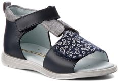Sandały MIDO - 31-10 Granat/Kwiaty
