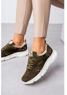 Buty sportowe damskie Kati w stylu młodzieżowym płaskie gładkie