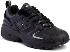 Sneakersy TOMMY JEANS - Heritage Sneaker EM0EM00373 Black BDS