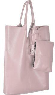 Shopper bag Designs Fashion srebrna duża z breloczkiem matowa
