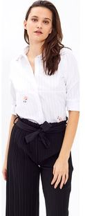 Biała koszula damska Gate z kołnierzykiem