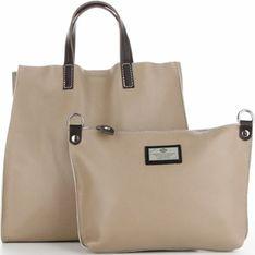 Shopper bag Genuine Leather bez dodatków duża skórzana
