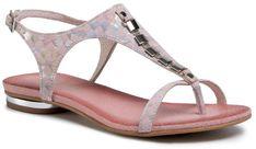 Sandały R.POLAŃSKI - 0826 Różowy Kwadraty