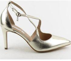 Sandały damskie Conhpol Bis na wysokim obcasie eleganckie
