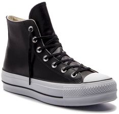 Trampki CONVERSE - Ctas Lift Clean Hi 561675C Black/Black/White