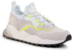 Sneakersy VOILE BLANCHE - Clubo4 0012014830.01.1N40 Bianco/Giallo Flu