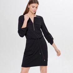 Mohito - Sukienka z lyocellem Tencel™ Eco Aware - Czarny